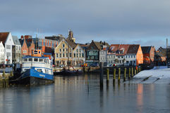 Fishing port of the town Husum along the North Sea, Germany Stock Photography