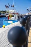 Fishing port of Ustka, Poland Stock Photos