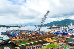 The fishing port of Vietnam Stock Photo