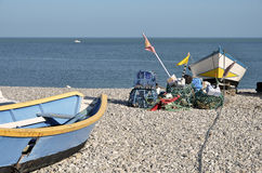 Fishing port of Yport in France Royalty Free Stock Photography