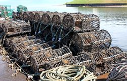 Fishing Pots. Royalty Free Stock Images