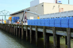 Fishing processing plant, Astoria OR. Stock Images