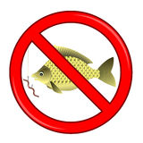 Fishing Prohibited Sign  Stock Photos