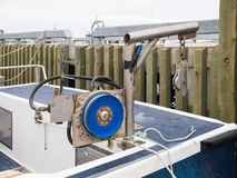 Fishing pulley gear Stock Photo