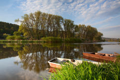 Fishing punts Royalty Free Stock Photo