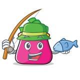 Fishing purse character cartoon style. Vector illustration Royalty Free Stock Image