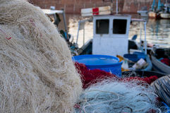 At the Fishing Quay. Of Livorno Royalty Free Stock Images