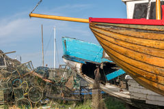 Fishing quotas and local economies. Hastings, East Sussex, UK, 9 May, 2015, Home to the largest beach launched fishing fleet in England, the environmentally Royalty Free Stock Photo