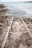 Fishing Ramp at Saona Cove, Formentera Stock Images