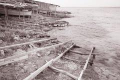 Fishing Ramp at Saona Cove, Formentera; Balearic Islands; Spain Royalty Free Stock Photo