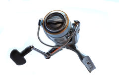 Fishing reel. On white background isolated Stock Photo