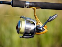 Fishing reel Stock Image
