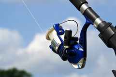 Fishing Reel. A reel used for fresh or salt water fishing Stock Photography
