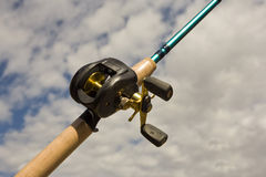 Fishing Reel - Bait Cast Royalty Free Stock Photography