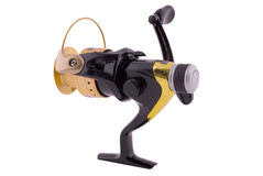 Fishing reel (Clipping path) Royalty Free Stock Image