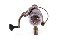 Fishing reel (Clipping path) Royalty Free Stock Photos