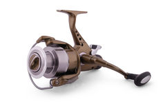 Fishing reel (Clipping path) Stock Image