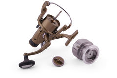 Fishing reel (Clipping path) Royalty Free Stock Images