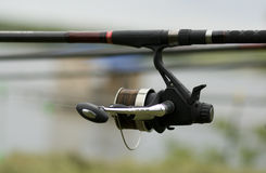 Fishing reel. Near the shore waiting for a big fish Stock Photography