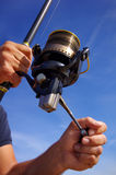 Fishing reel Stock Photography