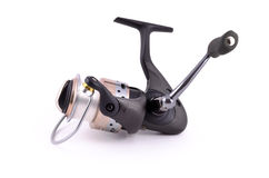 Fishing reel. On white background Stock Photography
