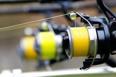 Fishing reels Stock Photo