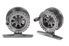 Fishing reels Royalty Free Stock Images