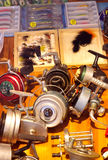 Fishing reels vintage Stock Images