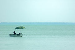 Fishing and relaxing Royalty Free Stock Images