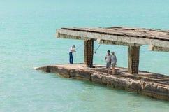 Fishing. Resort town in Russia in Gelendzhik Royalty Free Stock Image