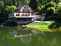 Fishing retreat, Saut-de-Doubs, Switzerland/France stock image