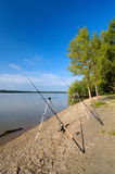 Fishing at the river Dunaj, Slovakia Stock Photo