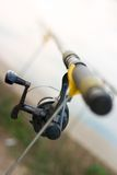 Fishing rod. Close-up of a fishing-rod royalty free stock photos