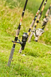 Fishing rod. On the grasses Royalty Free Stock Photos