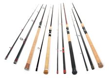 Fishing rod. Composition of fishing rods studio shot Stock Images