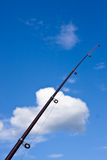 Fishing rod with azure blue sky (2) Royalty Free Stock Photography
