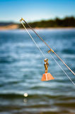 Fishing rod with a bell Royalty Free Stock Photography