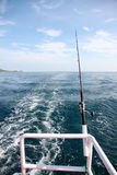 Fishing rod on a boat. Stock Images