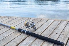 Fishing rod. Closeup shot. Stock Images