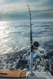 The fishing-rod equipped with the coil Stock Photo