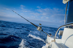 The fishing-rod equipped with the coil Royalty Free Stock Photos