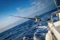 The fishing-rod equipped with the coil Stock Images