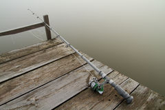 Fishing rod frosted Stock Image