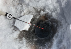 Fishing rod for Ice fishing Royalty Free Stock Photography