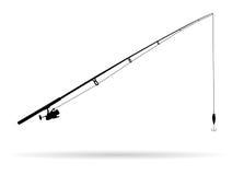 Fishing rod - Illustration. On white background Royalty Free Stock Image