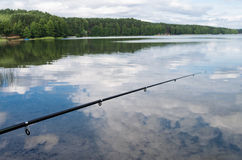 Fishing rod. Fishing in Ocypel, Poland Stock Image