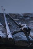 Fishing-rod On A Pier Royalty Free Stock Photos