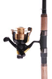 Fishing rod, reel (Clipping path) Royalty Free Stock Image