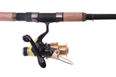 Fishing rod, reel Clipping path Royalty Free Stock Images
