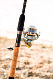 Fishing rod, and reel Stock Image